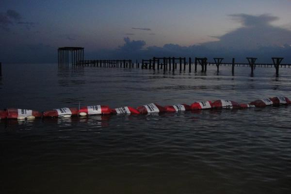 gulf spill fiber booms