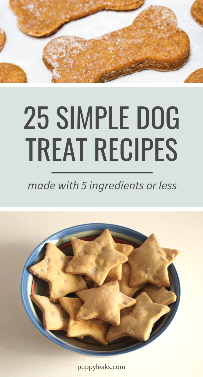 25 Simple Dog Treat Recipes Made With 5 Ingredients Or Less Puppy