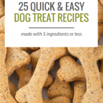 Looking to make some homemade dog treats? Here's 25 simple dog treat recipes.