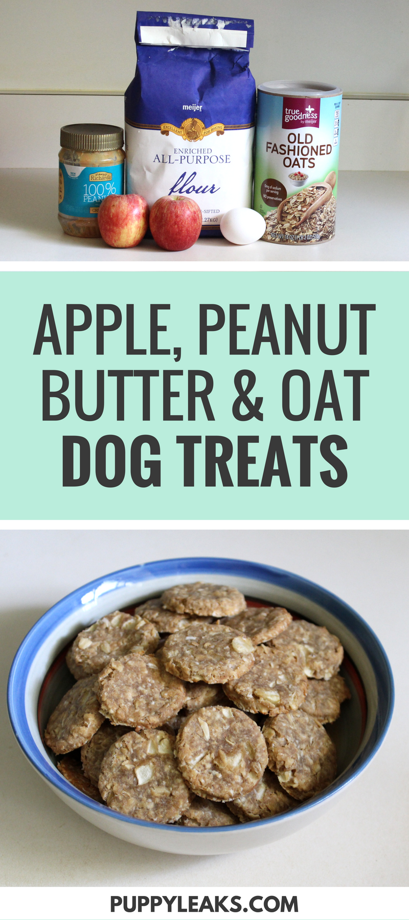Apple Peanut Butter & Oat Dog Treats